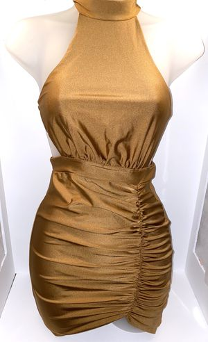 Bronze/Gold BRAND NEW silk dress for Sale in Carrollton, TX