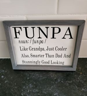 Funpa Canvas sign - handmade for Sale in Chardon, OH