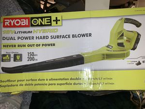 RYOBI LEAF DUAL BLOWER - BATTERY AND CORD for Sale in Washington, DC