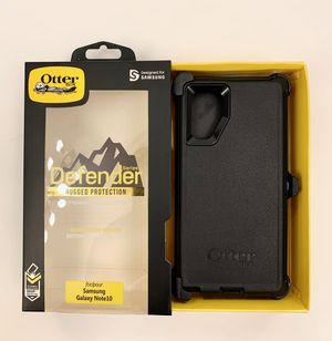 OtterBox Defender Case For Samsung Galaxy Note 10 with Belt Clip Holster BLACK for Sale in Corona, CA