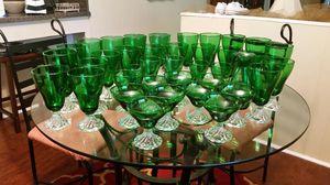 Antique green glasses for Sale in Batesburg-Leesville, SC