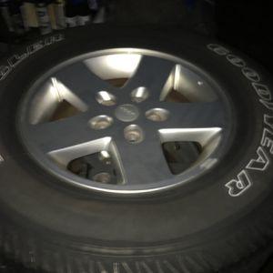 Jeep Aluminum Wheels And Tires/Wrangler/JK/JKU for Sale in Old Bridge Township, NJ