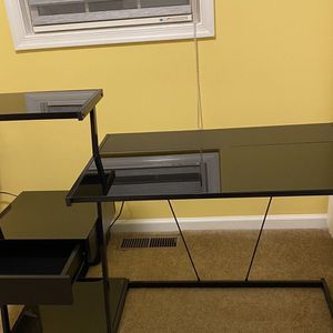 Desk Tempered Glass Like New for Sale in Harrisburg, PA