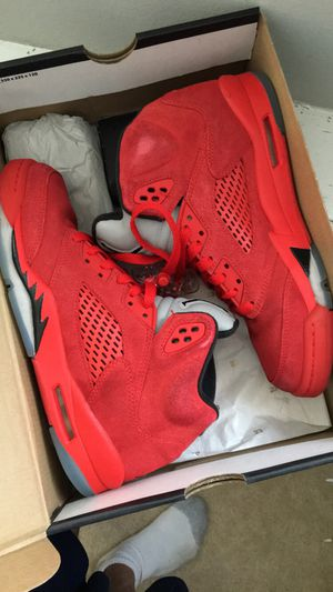 "Air Jordan Retro V ""Red Suede"" GS for Sale in Silver Spring, MD"