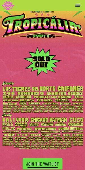 Tropicália Tickets for Sale in Los Angeles, CA