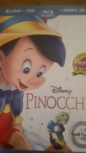 Original pinocchio . Regular dvd as well Blu Ray and digital . for Sale in Middletown, IN