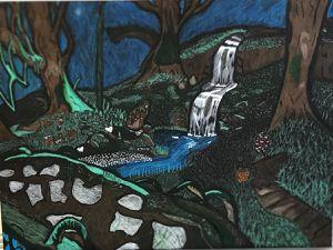 Rainforest hand drawn piece for Sale in San Diego, CA