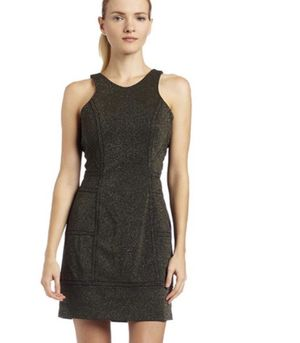 NWT BCBGeneration Gold/Black Metallic Dress. Small for Sale in Land O' Lakes, FL
