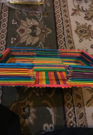 Fun Popsicle Stick Sculpture for kids for Sale in Springfield, VA