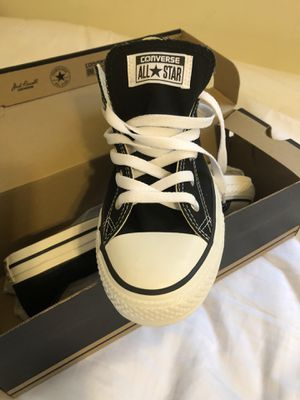 NEW Men's 7.5 / Women's 9.5 Black Converse All Star Canvas Shoes for Sale in Westland, MI