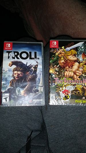 Nintendo switch games Troll and i and tiny barbarian dz for Sale in St. Louis, MO