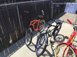 Real nice beach bike bikes Orange one is 130 black is 175 red yellow is 140 and the green one is 180 for Sale in Monrovia, CA