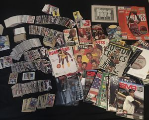 Huge sports memorabilia lot cards magazines yankees modern wheaties jordan vintage baseball basketball topps optic contenders for Sale in The Bronx, NY