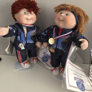 DANBURY MINT PORCELAIN DOLLS Doll Size 14in. CABBAGE PATCH KIDS OLYMPIC DOLLS for Sale in Tampa, FL
