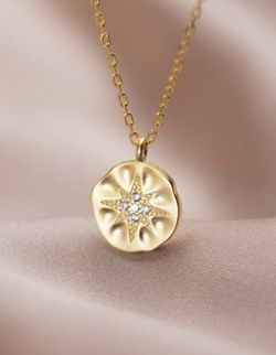 Sterling/14k Gold Plated CZ Pendant Necklace for Sale in Mount Clare,  WV