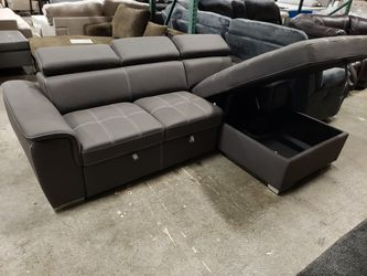 New sectional sofa sleeper with pullout and storage tax included for Sale in Hayward,  CA