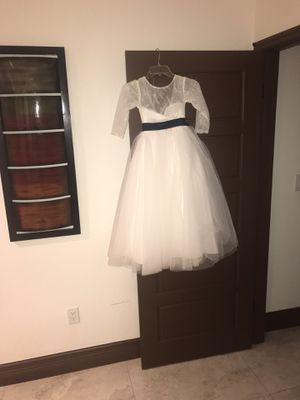Flower girl dress size 7/8 for Sale in Miami, FL
