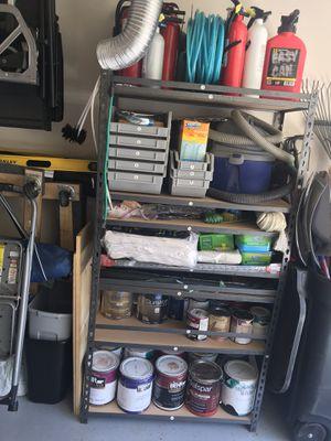 "Shelf Bin Organizer with Grey Bins with shelves adjust in 1"" Increments for Sale in Vienna, VA"