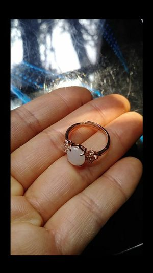 (15) adjustable genuine green icy jade jadeist silver 925 rose gold color ring for Sale in Richmond, CA