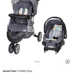Baby Trend EZ Ride 35 Travel System, Funfetti Grey for Sale in Dublin, OH