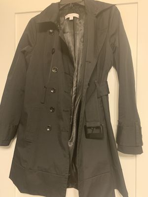 New York and Company Black Trench Coat for Sale in Arlington, VA