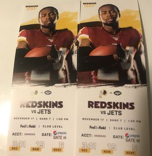 Redskins vs Jets for Sale in Alexandria, VA