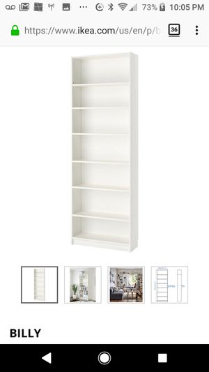 $45 - Ikea book case - white for Sale in Sunnyvale, CA