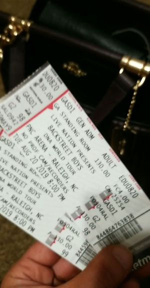 Backstreet Boys 1 ticket TONIGHT for Sale in Raleigh, NC