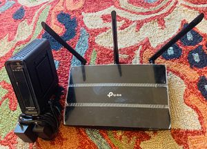 TP-Link Wifi Router Gateway and Addis SB Modem for Sale in Hillsboro, OR