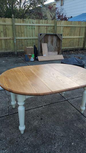 Solid wood kitchen table for Sale in North Tonawanda, NY