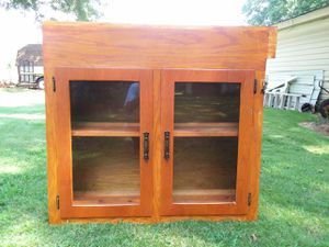 kitchen cabinet with tinted glass doors for Sale in Inman, SC