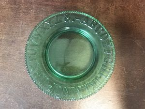 Used, Green Depression Glass ABC Plate for Sale for sale  Las Vegas, NV
