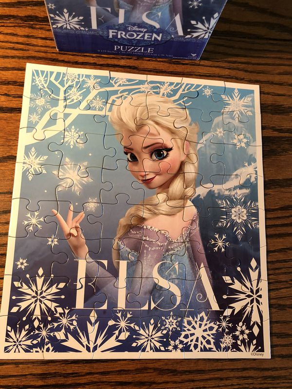 Disney Frozen Princess Elsa jigsaw puzzle- fun for children and family game night!
