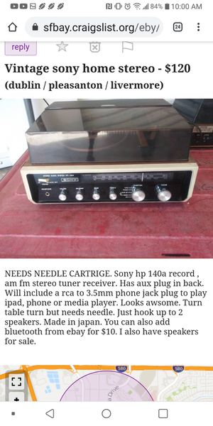 Vintage sony home stereo for Sale in Pleasanton, CA