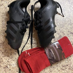Boys Soccer Shoes Size 11 & Socks for Sale in Garland, TX