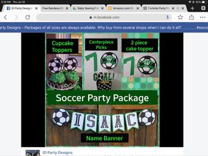 Soccer party package for Sale in Upland, CA