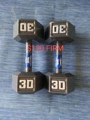Brand New!! 30 Pound Dumbbells FIRM for Sale in Yucaipa, CA
