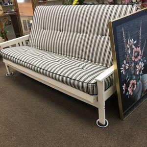 Futon Wood Frame Thick Cushion Nice! for Sale in Sun City West, AZ