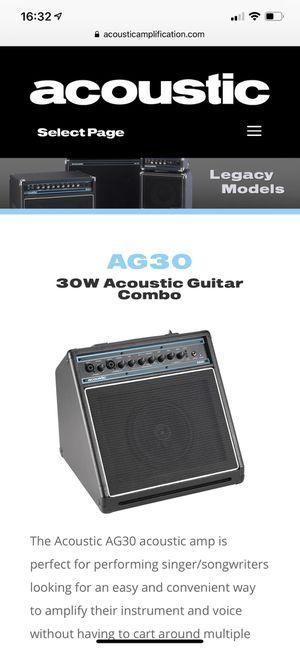Acoustic AG30 amplifier for Sale in Richmond, VA