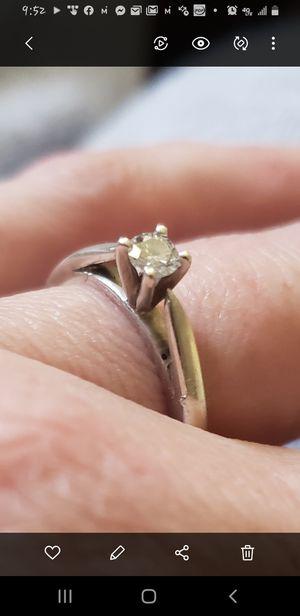 Platinum 1/4 Carat diamond ring for Sale in Twin Falls, ID