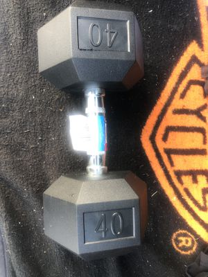 Weider DRH40 Rubber Hex Dumbbell with Knurled Grip - 40 lbs for Sale in North Lauderdale, FL
