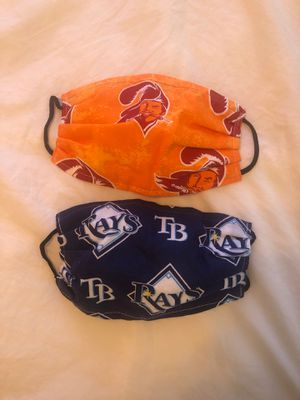 TAMPA BAY RAYS & TAMPA BAY BUCS FACE MASKS for Sale in St. Pete Beach, FL