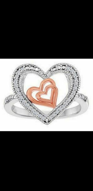 Brand new Genuine Diamond heart ring. Size 6. for Sale in Mesa, AZ