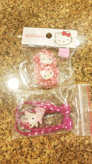 Hello Kitty hair accessories 4 pieces for Sale in Las Vegas, NV