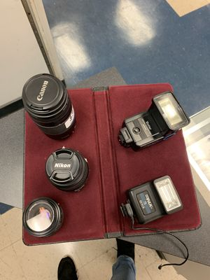 Camera Flashes and Lenses/ Nikon/Canon/Minolta for Sale in Houston, TX
