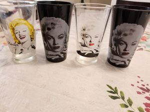 Marilyn monroe glass cups for Sale in Riverside, CA