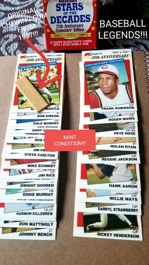 1987 Stars Of The Decades! BASEBALL CARDS for Sale in Romulus, MI