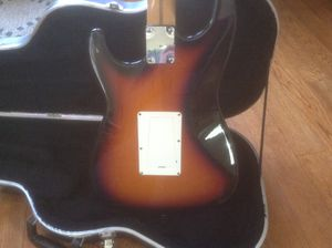 Fender Stratocaster refitted with EMG David Gilmore pickups the tone difference is huge ,cost to convert pickups was 350.00 at 900.00 your getting th for Sale in Davidsonville, MD