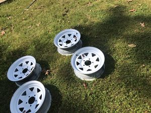 14 in trailer rims white. Need gone asp for Sale in Brandywine, MD