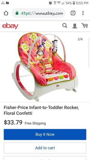 Fisher price infant to toddler rocker for Sale in Manassas, VA